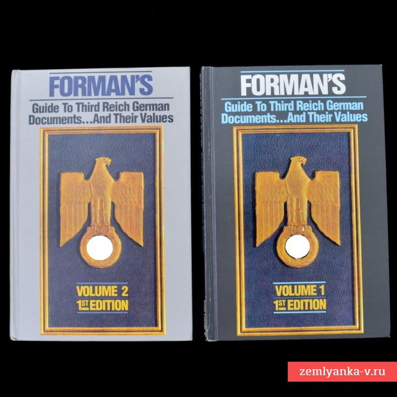 Комплект книг «Forman's Guide to Third Reich German Documents»